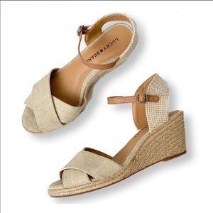 Lucky Brand • Natural Tan Karoly Wedge Sandals
